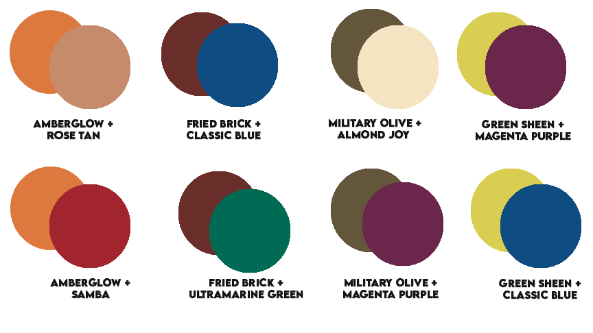 2-Color Pairings For Fall Combinations