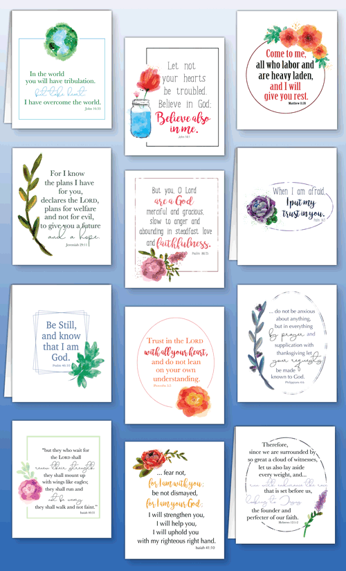 Cal Scripture Cards Collage