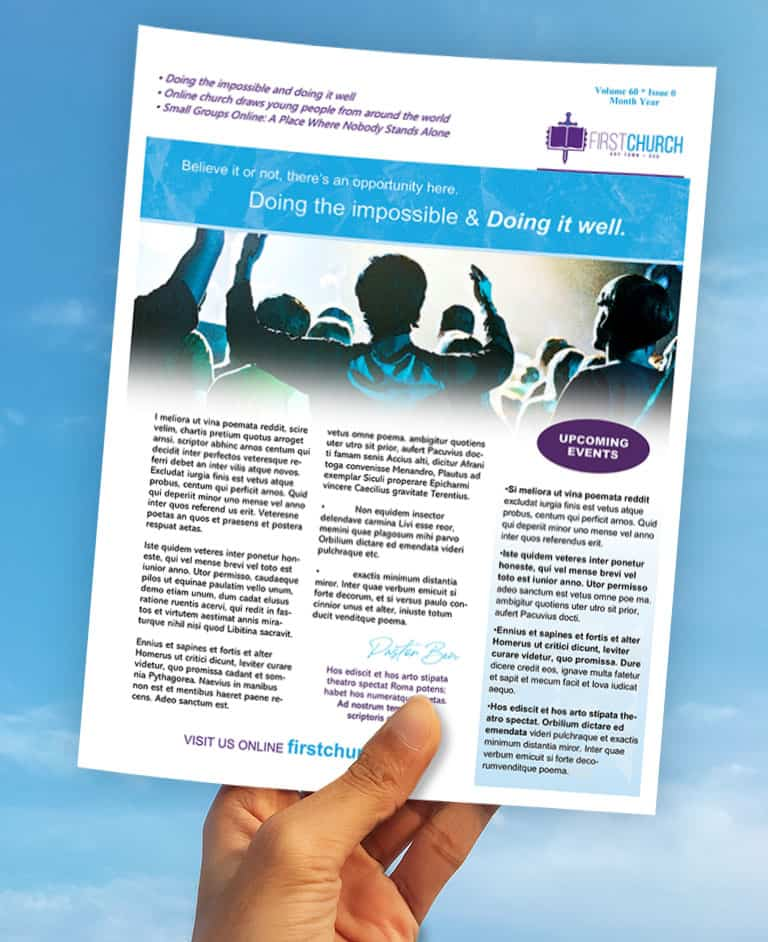 Church Newsletter And Bulletin Tips