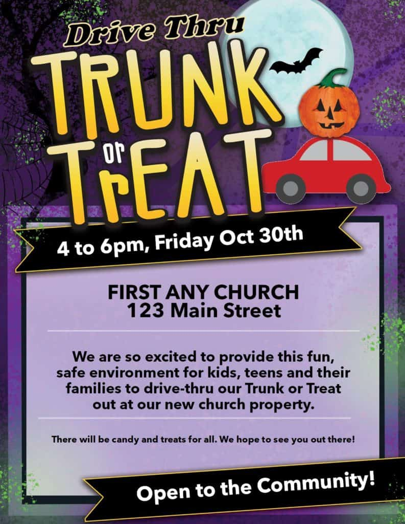Drive Thru Trunk Or Treat