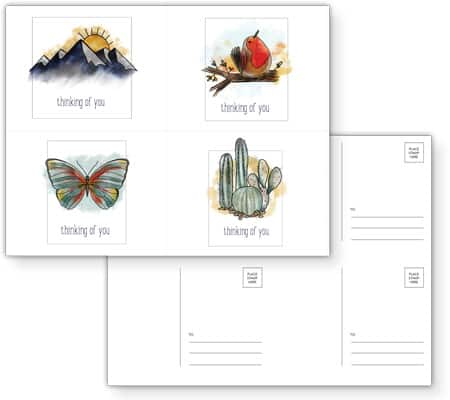 Free Thinking Of You Postcard Template