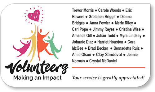 Honor Your Church Volunteers Sample Image