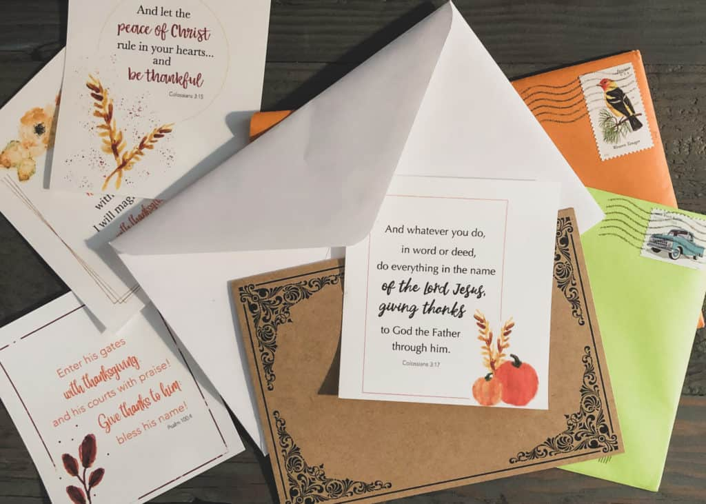 Add bible verses to your mailed letters and cards