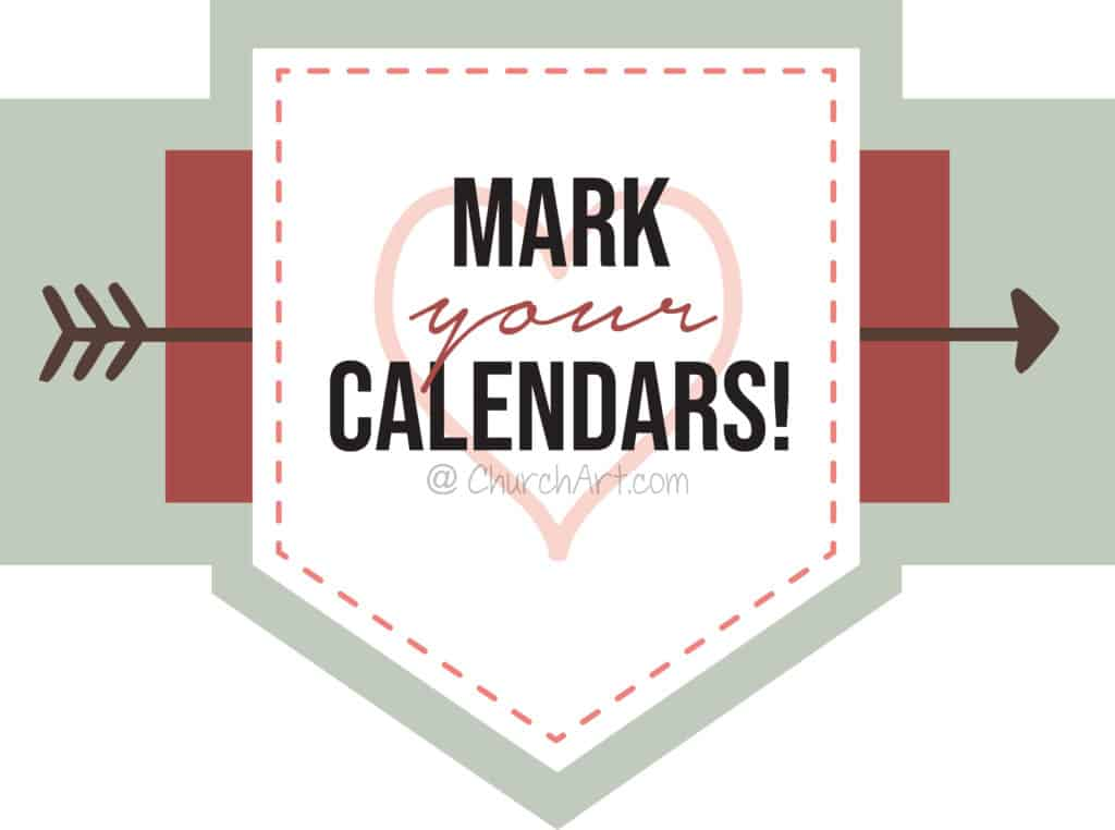 Mark Your Calendars Clipart Image