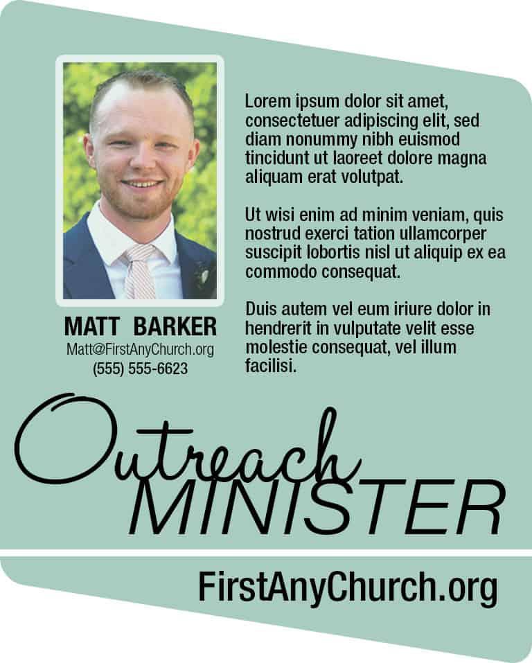 Profiles Highlighting Church Staff Members