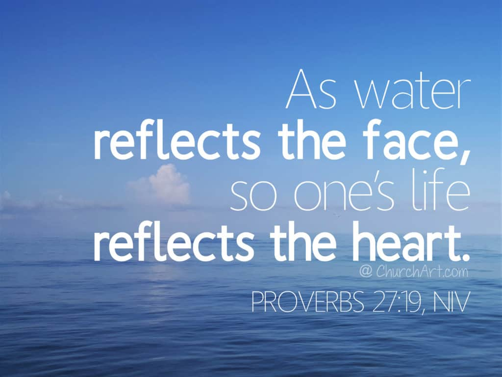 Proverbs 22:19 typed out over a photo of water and sky.