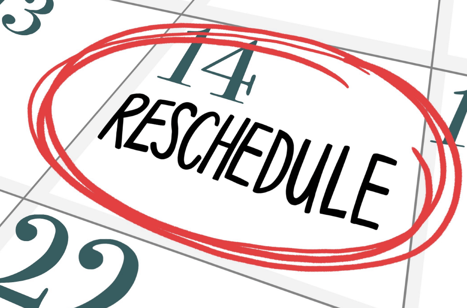 Reschedule Change The Date Clipart