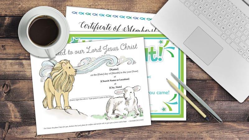 Sample Church Certificates