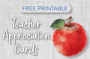 Free Printable Teacher Appreciation Postcards