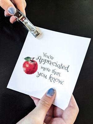 Teacher Appreciation Cards Holepunchhands