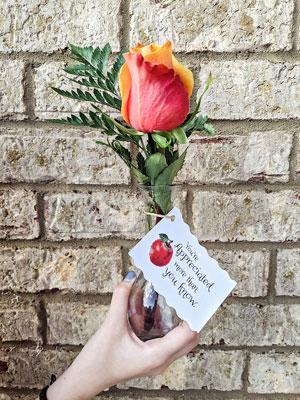 Teacher Appreciation Cards Rose