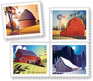 Thinking Of You Postcards Stamps 2