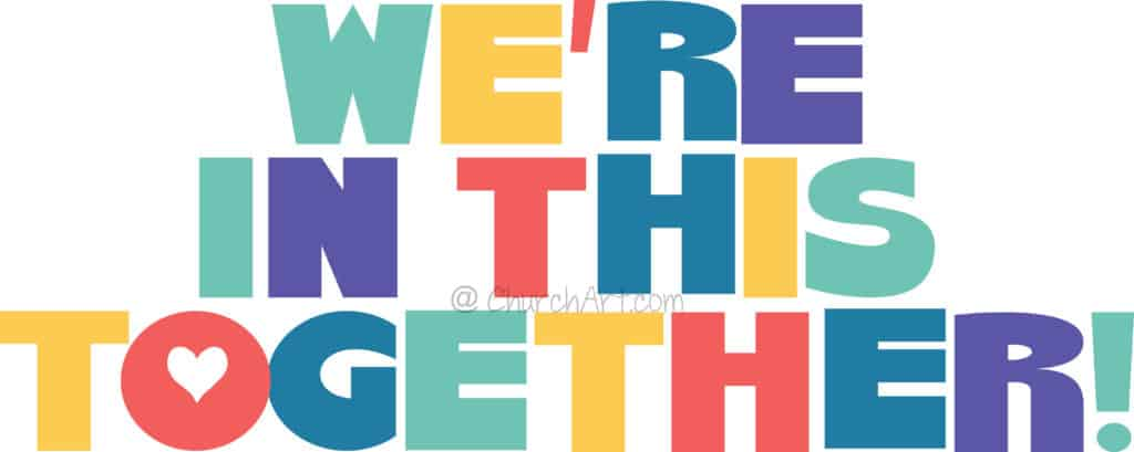 We Are In This Together Pandemic Clipart