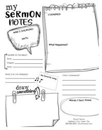 Childrens Sermon Notes