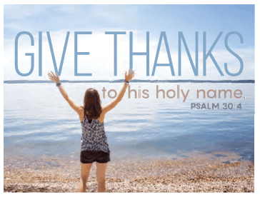 Machine generated alternative text: ET ANKS  +0 hilS holly name.  PSALM