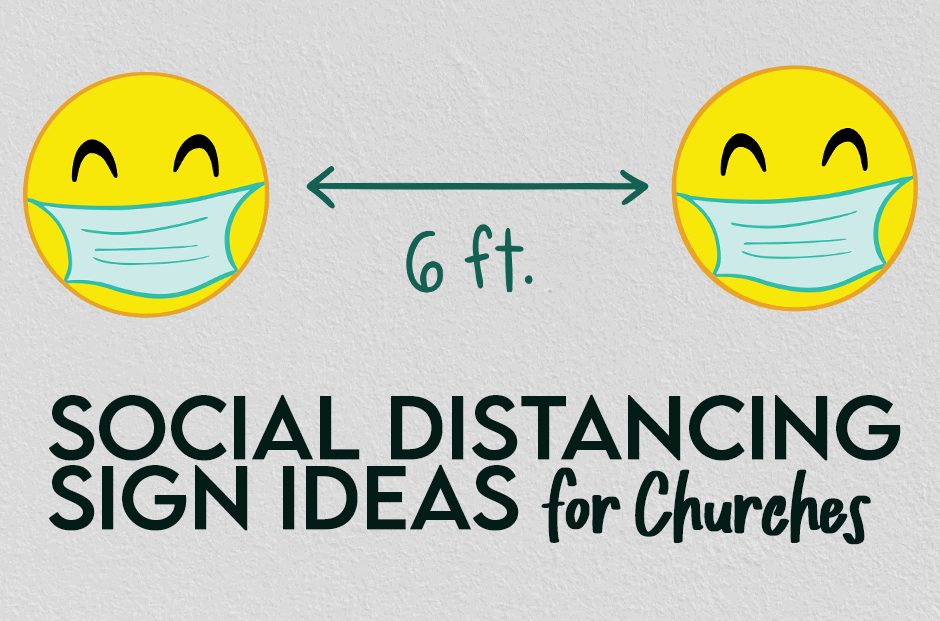 Social Distancing Sign For Church Building